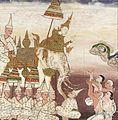 Prince Vessantara Gives Away His White Elephant, Scene from Vessantara Jataka on Generosity LACMA M.76.112.20.jpg