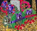 Private Bukan Singh gravestone Remembrance Day 2012.JPG
