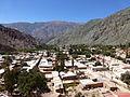 Provincia de Jujuy - Purmamarca - Vista del pueblo de Purmamarca desde el Siete Colores 1.JPG