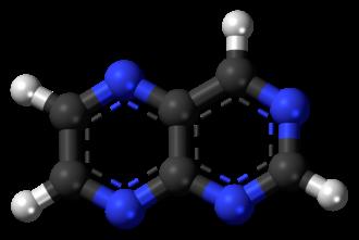 Pteridine - Image: Pteridine 3D balls 2