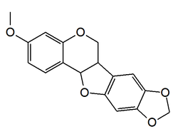 Chemical structure of pterocarpin