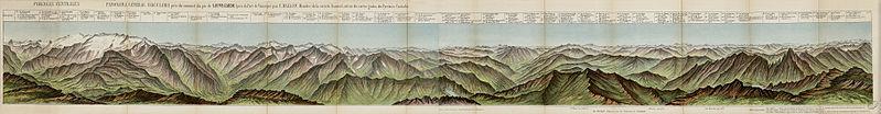 File:Pyrénées centrales - Panorama général circulaire pris du sommet du pic de Sauvegarde (près du Port de Vénasque) - Fonds Ancely - B315556101 A WALLON 3 001.jpg