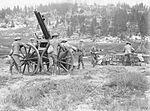 QF 13 pounder 9 cwt AA gun on field mounting WWI IWM Q 26829.jpg