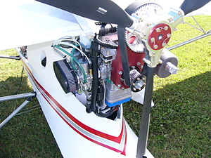 Reduction drive - Rotax 582 pusher installation on a Quad City Challenger II.