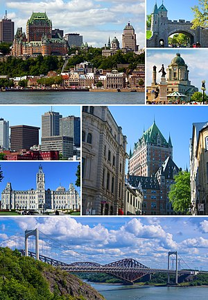 Quebec City - Image: Quebec City Montage 2016