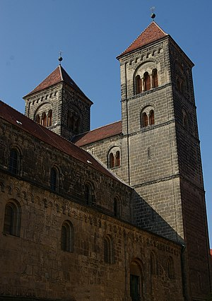 Ottonian dynasty - Former collegiate church of St. Servatius in Quedlinburg, founded in 936 by King Otto I, at the request of his mother Queen Matilda, in honour of her late husband, Otto's father, King Henry the Fowler, and as his memorial