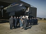 Queen Elizabeth at RAF Warboys Feb 1944 IWM TR 1554.jpg