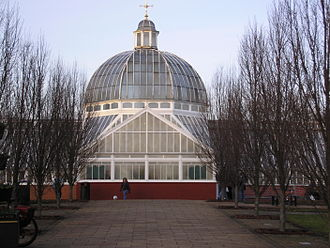 Queen's Park, Glasgow - The glasshouse in Queen's Park. Located at the top of the hill around which the park is formed and close to the flagpole.