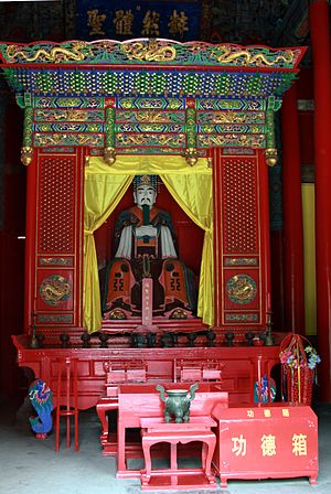 Yan Hui - Statue of Yan Hui in the temple dedicated to him in Qufu, Shandong province