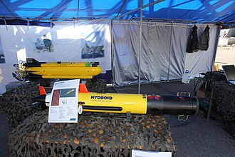 Unmanned underwater vehicle - AUV REMUS  (front) and Seafox (rear)