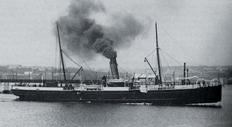 SS Fenella (1881) - RMS Fenella pictured departing Douglas, Isle of Man.