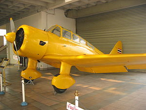 Tachikawa Ki-36 - Tachikawa Ki-36 trainer at the Royal Thai Air Force Museum.