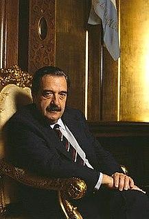 former President of Argentina (1983-89)