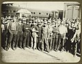Railway staff waiting for dinner during the 1917 strike (7373210818) (2).jpg