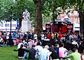 Rally in Leicester Square during London Pride 2005.jpg