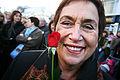 Rannveig Gudmundsdottir, Nordiska radets president, deltar i kvinnostrejken i Reykjavik 2005-10-24.jpg