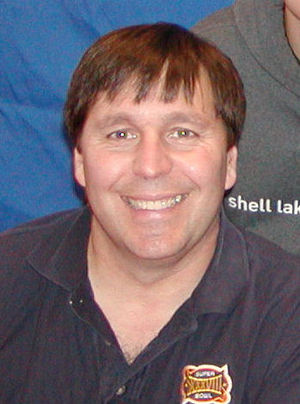 English: Author, R. A. Salvatore at book signing
