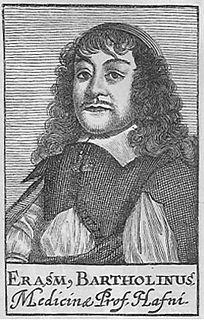 Rasmus Bartholin danish scientist and physician