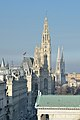 Rathaus & Votivkirche from Palace of Justice 01, Vienna.jpg