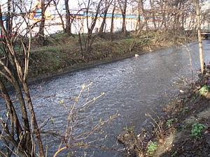 Rawa (river) - Rawa flowing through Katowice