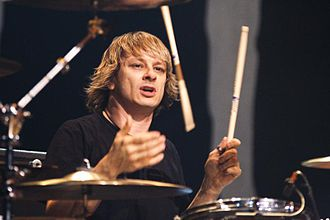 Ray Luzier - Luzier during a Korn concert in April 2010