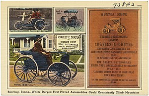 "Duryea Motor Wagon Company - Reading, PA, ""where Duryea first proved automobiles could consistently climb mountains"""