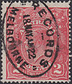 Records Melbourne cancel on 2d stamp of Australia 1922.jpg