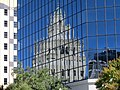 Reflection of Snell Arcade in BB&T Tower, St Petersburg, Florida.JPG