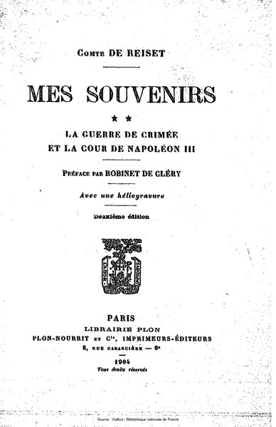 File:Reiset - Mes souvenirs, tome 2.djvu