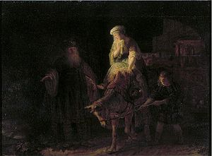 Rembrandt — The Departure of the Shunammite Woman