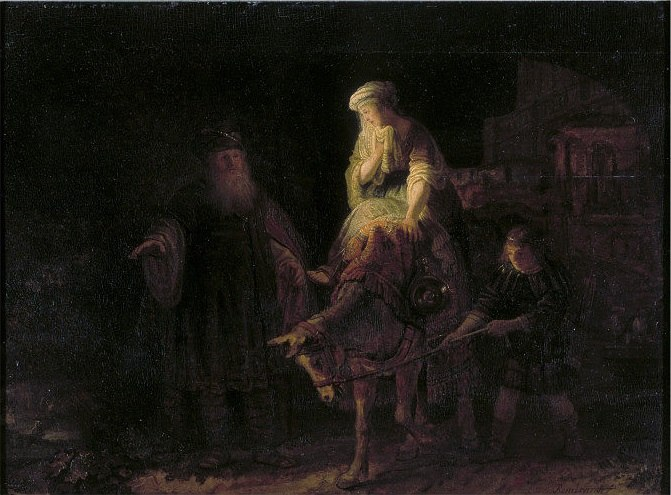 Rembrandt - The Departure of the Shunammite Woman.1