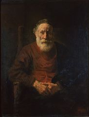 Portrait of an Old Man in Red by Rembrandt