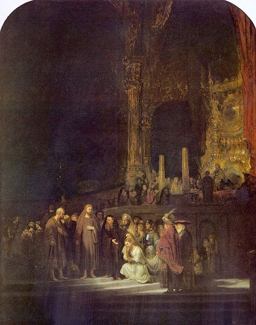 """The Woman Taken in Adultery"" by Rembrandt"