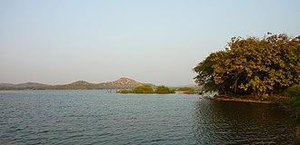 Kamleshwar Dam - Reservoir of the Kamleshwar Dam