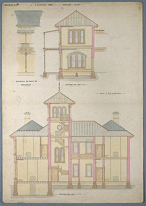 Hordern family - Plans for Retford Hall, Darling Point