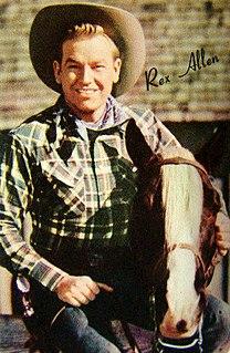 Rex Allen American film actor, singer and songwriter