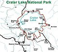 Rim Drive map, Crater Lake National Park.JPG