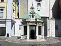 Rimini, piazza tre martiri, tempietto 04.JPG