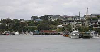 Riverton, New Zealand - Riverton fishing boats
