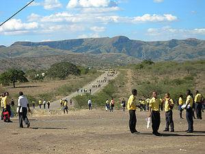 Nkandla, KwaZulu-Natal - Road to Mnyakanya High School, Nkandla