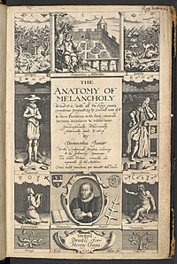 Robert Burton's Anatomy of Melancholy, 1626, 2nd edition.jpg