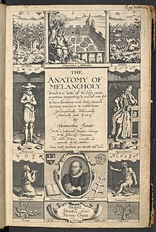 Robert Burton's Anatomy of Melancholy, 1626, 2nd edition.jpg