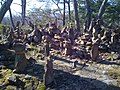 Rock cairns in Penwood State Park, 8 March 2010.jpg