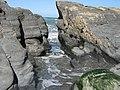 Rocks on Beach near Tresaith in Wales.jpg