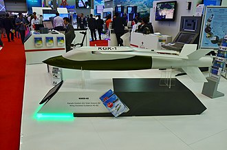TÜBİTAK Defense Industries Research and Development Institute - Wing-assisted guidance kit KGKSS-82 at the stand of Roketsan during the IDEF 2015.