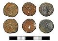 Roman coin, Three denarii (FindID 578481).jpg