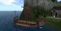 Roman ship, ROMA, Second Life.png