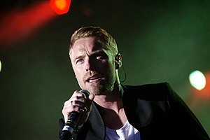 Ronan Keating - Keating performing in Klaksvík, Faroe Islands, in August 2012