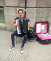 Rosita playing a Titano Accordion - Montreal (Aug 2014).jpg