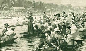 Regatta - Rowing, by Lucien Davis, 1898.
